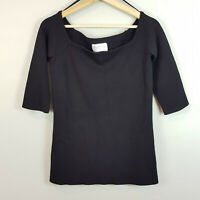[ RACHEL ROY ] Womens Black Off Shoulder Ponte Top | Size M or AU 12 / US 8
