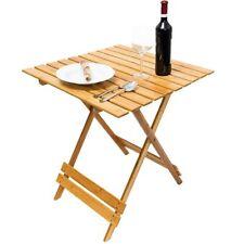 Tavolo Pieghevole Tavolino in Legno Bamboo Multiuso Casa Giardino Campeggio