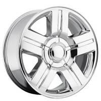 "4ea 20"" Chevy Silverado/Suburban Wheels 258 Texas Edition Chrome OEM Replica(S3)"