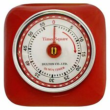 Brand New Dulton Industrial Retro Magnetic Kitchen Timer- Red