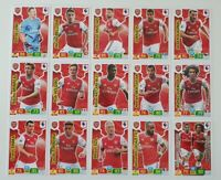 2019/20 Arsenal Team Set Soccer Cards Panini Adrenalyn EPL (15 cards)