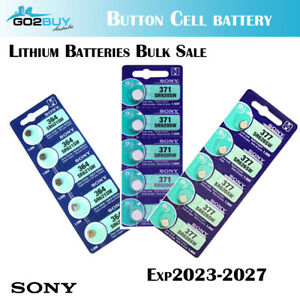 Sony 364 371 377 337 379 626SW SR920 AG4 621 AG6 Silver Oxide Watch Battery Cell
