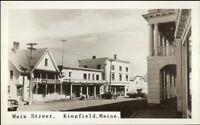Kingfield ME Main St. Real Photo Postcard
