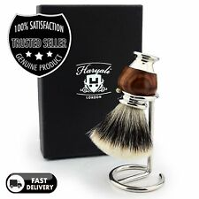 Silver Tip Handmade Silver Tip Badger Hair Shaving Brush + Free Brush Holder