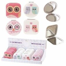 New Cute Owl Design Compact Mirror Lady Makeup Gift