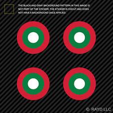 "(4x) 1.5"" Maldivian Air Elements Roundel Sticker Die Cut Maldives MDV MV"