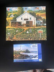 "Charles Wysocki Vintage Puzzle 1000 piece ""HOME ON THE FARM"" *** 1 500"