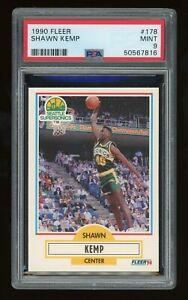 1990 Fleer #178 Shawn Kemp RC Rookie Card Graded PSA 9 MINT