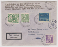 RRARE SUEDE VISBY 1940 1ER VOL FIRST FLY PORT COURRIER PAR GRAND FROID GOTLAND