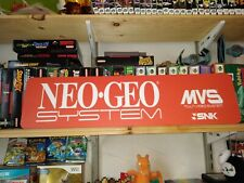 "Neo Geo Aluminum Sign, Display, 6"" x 24"", Free Shipping Mvs Snk!"