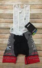 Louis Garneau Cycling Bib Shorts Padded Bicycle Cafe USA Black Red White Mens XS