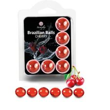 SECRET PLAY SET 6 BRAZILIAN BALLS CHERRY APHRODISIAC SEXUAL AID LUBRICANT. NEW