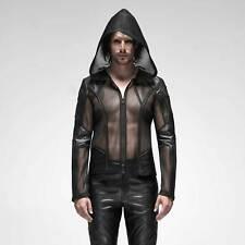 PUNK RAVE Dynamic Mesh Jacket Netzjacke Transparent Herren Schwarz GOTHIC CYBER
