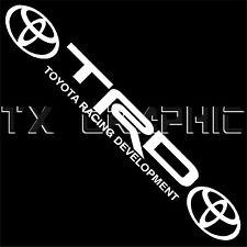 "JDM TRD RACING DEVELOPMENT DECAL STICKER  WINDSHIELD  TACOMA TUNDRA  40"" X 5"""