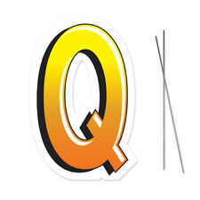 Letter Q Yard Sign With Metal Stakes