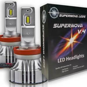Supernova V.4 X LED Head Lights Fog PAIR - H11 H8 H9 9005 9006 H13 H7 H4