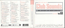 3 CD - Club Sounds - The Ultimate Club Dance Collection Vol. 63 - 2012