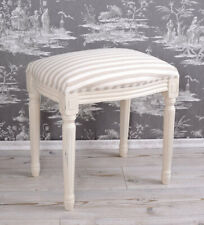 Make-Up Table Stool Old White Sitting Shabby Chic Seating Bench Wooden