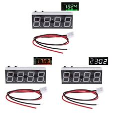 Electronic 12V 5-24V Voltmeter Thermometer Clock for Car Auto LED Monitor Module