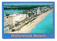 Hollywood Beach Florida Postcard Sand Water Resort Hotels Vacation Tropical 1589