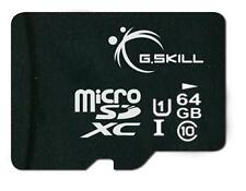 64GB G.Skill microSDXC CL10 UHS-1 memory card with SD adapter