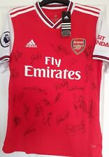 Arsenal Home Shirt Signed by 24 BNWT 2019/20 F,A,Cup Winners.