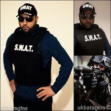 Para Hombre Swat equipo de chaleco Fancy Dress Costume Policial Fbi Tactical Estilo Militar Para Adultos