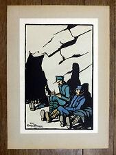 GEORGES BRUYER Gravure Couleur NOUVELLES...  ww1 Première Guerre Mondiale 1917
