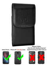for Virgin Mobile Apple iPhone 6 Plus Leather Case Belt Clip Cover Holster