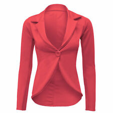 New Women's Ladies Crop Frill Shift Slim Fit Peplum Blazer Jacket Coat Size*slmj