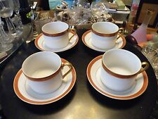 Set of 6 Fitz & Floyd BORDURE ROUGE Cups and Saucers Unused Condition!