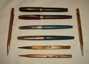 Vintage Pens & Propelling Pencils x 8 - Parker, Watermans, Power, Monarch