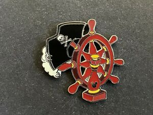 Cast Lanyard Pirates of the Caribbean Pirate Hat & Ship's Wheel Disney Pin 43203