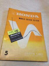 Honda SS125A CL125A SS CL 125 A parts list liste catalogue pièce détachée éd5 71