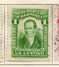 Colombia 1917 Early Issue Fine Used 1c. 139731