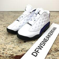 """Nike Air  Jordan Retro 13 """"Lakers"""" Size 8cWhite Court Purple TD 414581 105 New"""
