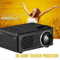 1080P HD 5000 Lumen LED Projektor Heimkino Beamer Cinema USB LED VGA HDMI A SD