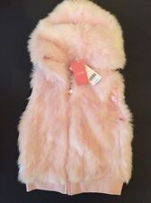 Beautiful Gymboree SWEETER THAN CHOCOLATE Pink Faux Fur Vest  NWT  Size 5-6