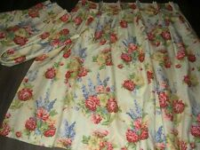 English pretty cottage garden style floral cotton thermal lined pr curtains