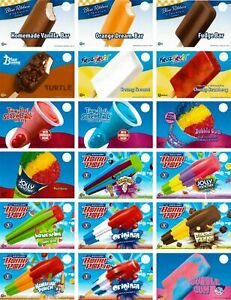 ANY 20 YOUR CHOICE OF Ice Cream Truck Decal Sticker Blue Bunny, Rich's & GH