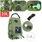 Portable Shower Heating Pipe Bag Solar Water Heater Camp Shower Bag Camping 20L