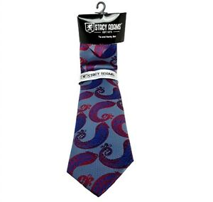 NWT Stacy Adams Paisley Tie Hanky Purple Red Suit Formal Business