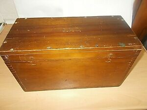 """A Rare Vintage Numbered G.P.O. Wooden Box Measures Approx. 15"""" x 8 1/2"""" x 6 1/2"""""""