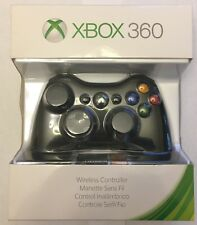 XBOX 360 Wireless Controller GamePad Video Game Pad Black Genuine OEM BRAND NEW