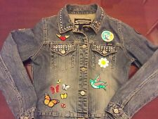 Authentic Stephen Hardy Vintage Denim Jacket Squeeze with Patches size S