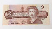 1986 Canada 2 Two Dollars BGG Prefix Canadian Uncirculated Banknote G199