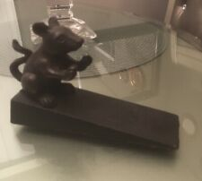 Cast Iron Mouse Door Stop Wedge - Vintage Stopper - Home Decor Animal