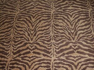 1.375 YDS Chenille ZEBRA Animal Pattern EARTH BROWN Home Decor Upholstery Fabric