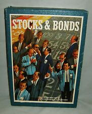 Complete Vintage 1964 3M Bookshelf STOCKS & BONDS Market Wall Street Board Game