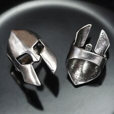 SPARTAN 300 Helmet Thai Sterling Silver Plated 22mm Large Brass Bead Hole 11mm